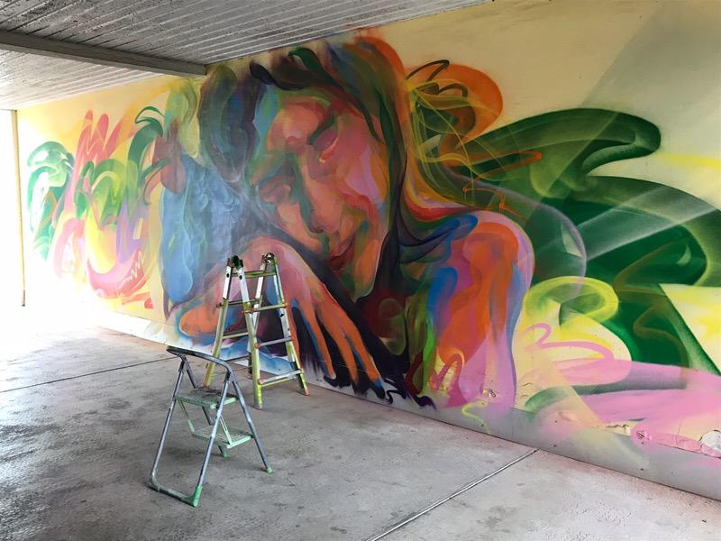 fresque murale rue du bourbonnais après