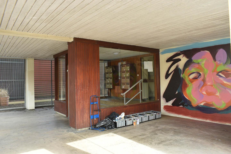 Réalisation d'une fresque murale avant après rue du bourbonnais